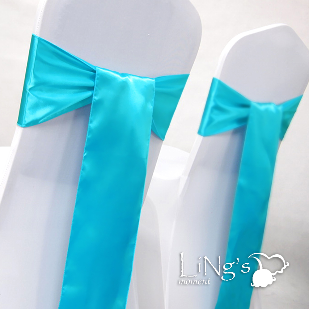 6-x-108-Aqua-Blue-Satin-Chair-Cover-Sash-Bow-Wedding-Party-Banquet-Decoration