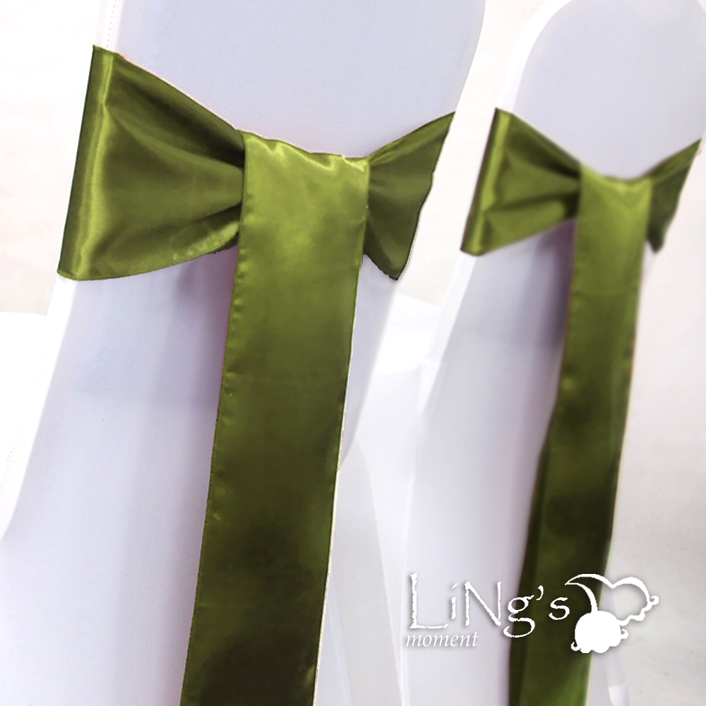6-x-108-Olive-Green-Olivine-Satin-Chair-Cover-Sash-Bow-Wedding-Party-Banquet