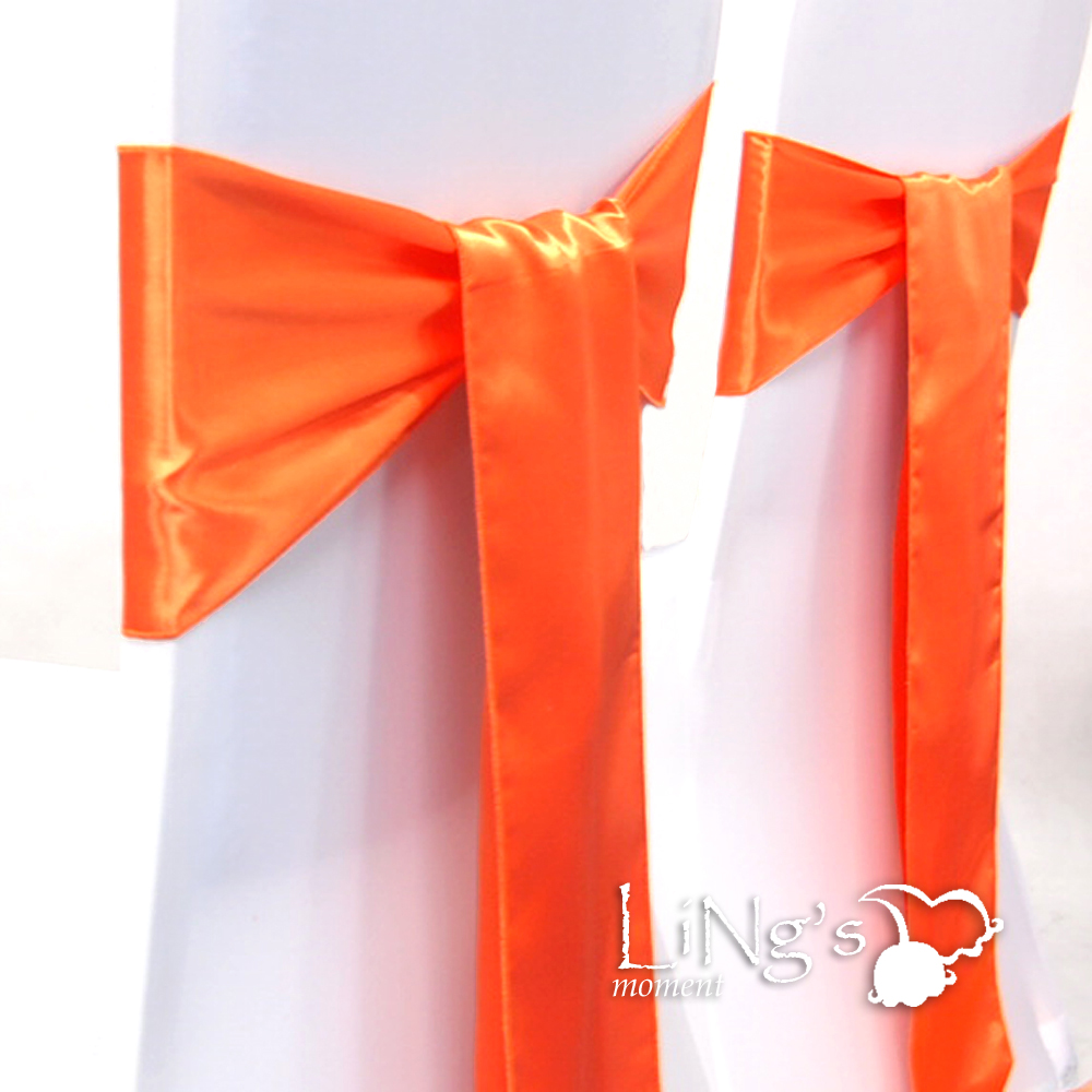 100-pieces-Wedding-Party-Banquet-6x108inch-Satin-Chair-Cover-Sash-Bow-COLORS