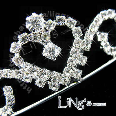 Bridal-Tiara-Crystal-Wedding-Silver-Heart-Crown-Jewelry