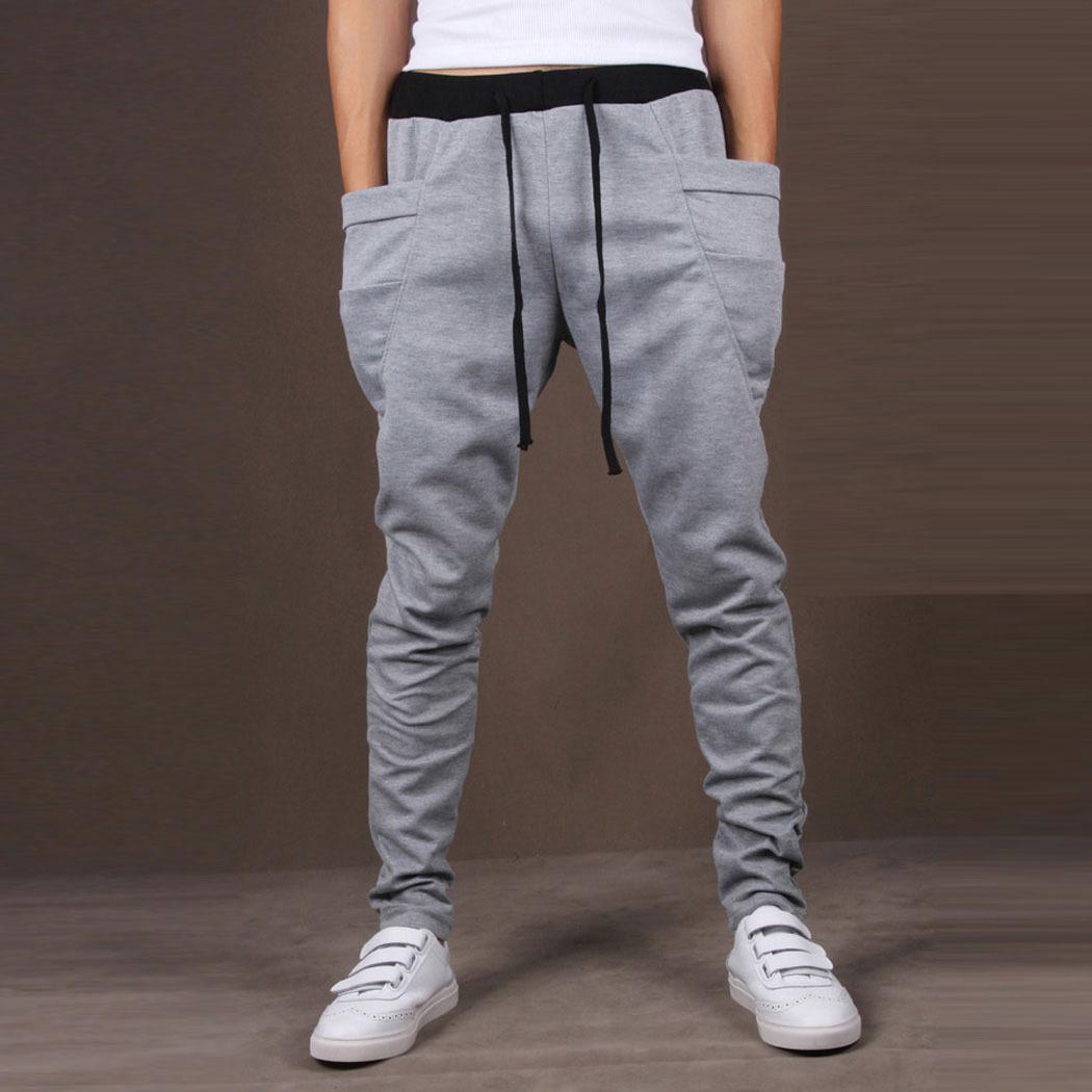 Homme,mode,Pantalon,sport,jogging,elastique,Hip,Hop,
