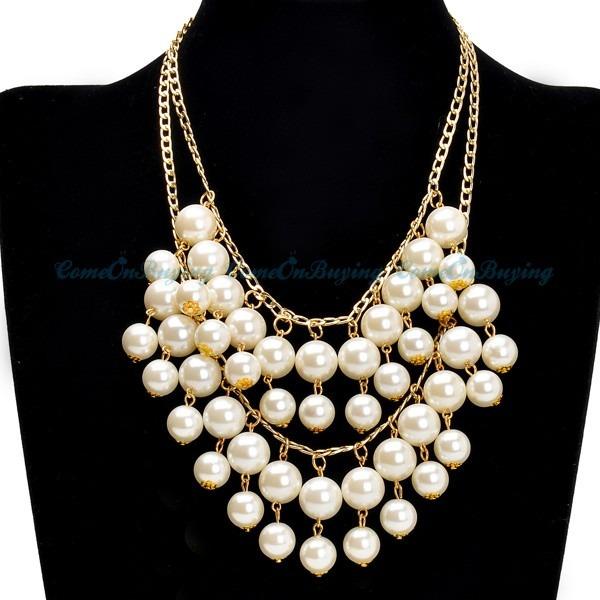 kette statement kette kunst perlen halskette collier. Black Bedroom Furniture Sets. Home Design Ideas
