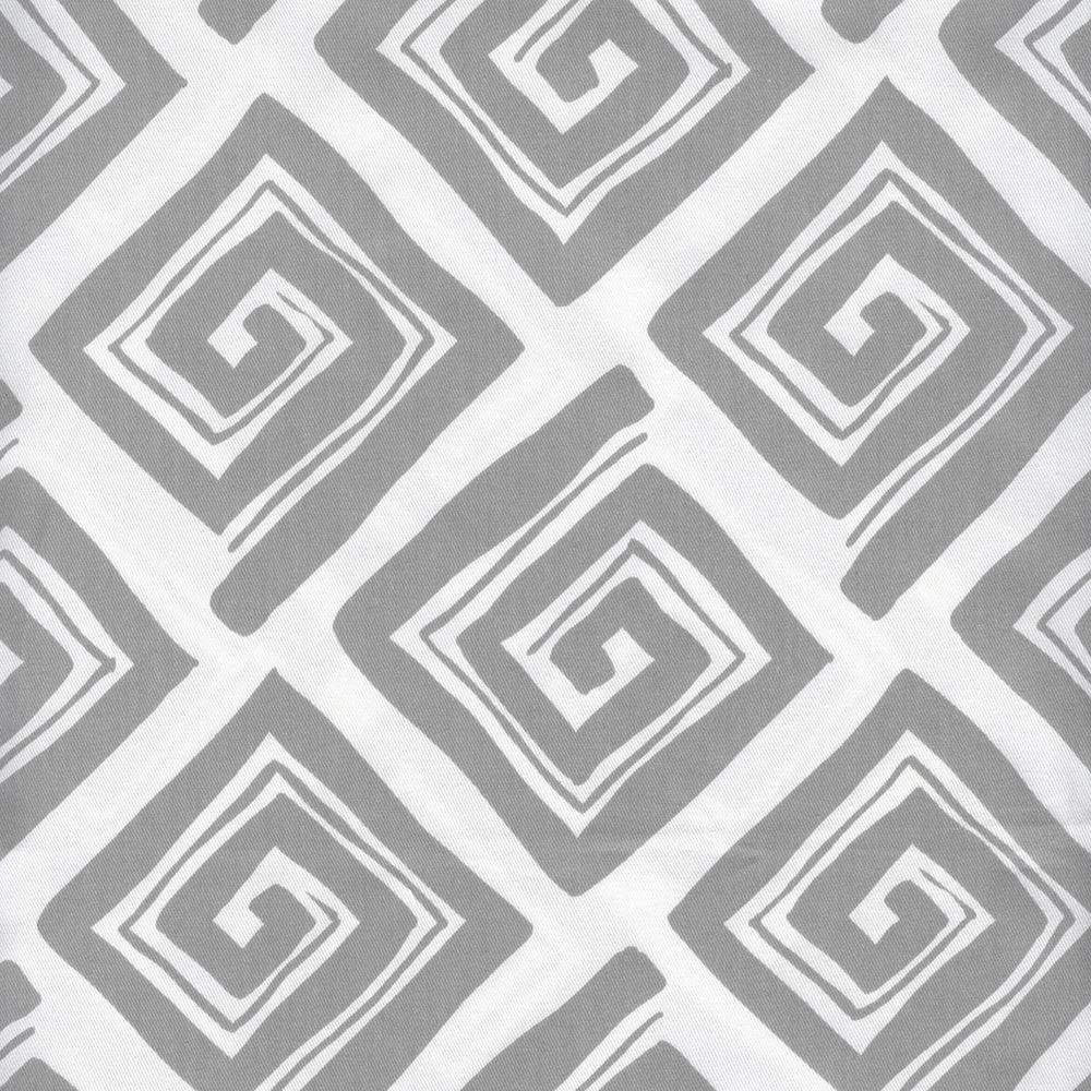 "Close to Custom Linens Maze Storm Gray Geometric 63"" Rod Pocket Curtain Panels Pair, Cotton (Unlined)"