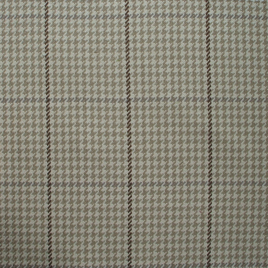 """Close to Custom Linens 84"""" Fabric Shower Curtain Pembrook Houndstooth Oyster Cotton, Unlined at Sears.com"""