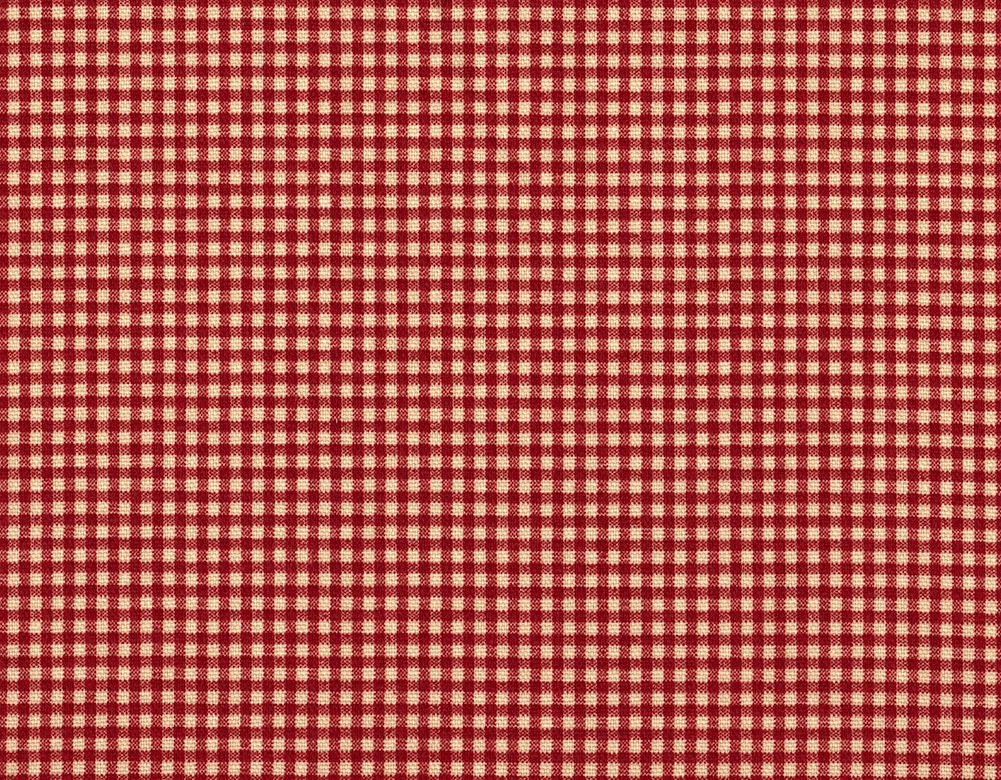 """Close to Custom Linens 84"""" Fabric Shower Curtain French Country Gingham Check Crimson Red Cotton, Unlined at Sears.com"""