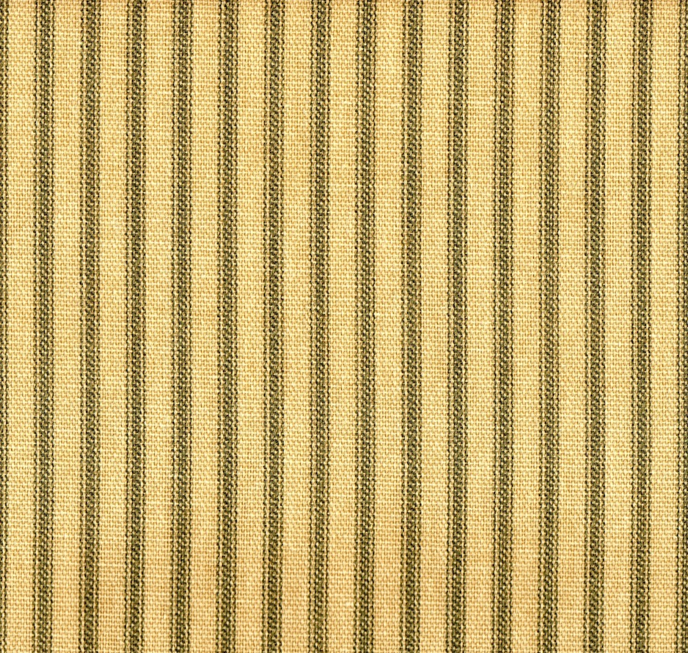 Close to Custom Linens French Country Ticking Stripe Document Green 108