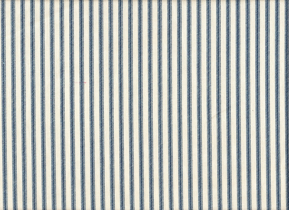 """Close to Custom Linens 84"""" Fabric Shower Curtain French Country Ticking Stripe Nautical Blue Cotton, Unlined at Sears.com"""