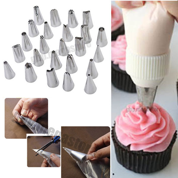 Icing Piping Nozzles Pastry Tips Bag Fondant Cake Sugarcraft Decorating Tool #T