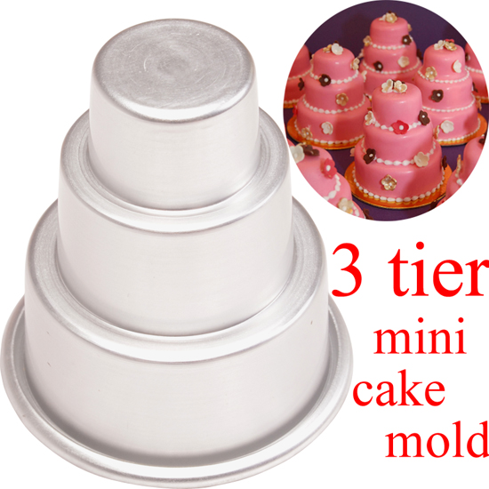 3-Tier-Cupcake-Mini-Cake-Cookie-Pastry-Pudding-Chocolate-Mould-Baking-Pan-Tin