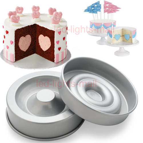 Cake Decorating Solutions Fondant : Xmas 2pcs Heart Tasty Fill Round Cake Baking Pan Tin ...