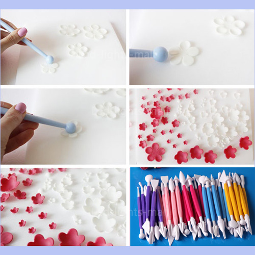 cake modeling tools kit fondant icing sugarcraft paste
