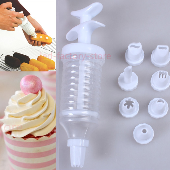 Cake Decor Kit : Cup-Cake-Biscuit-Cookie-Decorating-Kit-Set-Icing-Piping ...