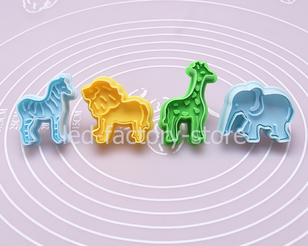Elephant Cutter For Cake Decorating : New 4pcs Cake Fondant Mold Cutter Decorating Cookie ...