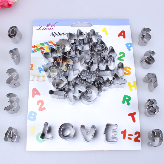 Cake Decorating Letter Cutters : HOT 37pcs Alphabet Number Letter Cake Pastry Decorating ...