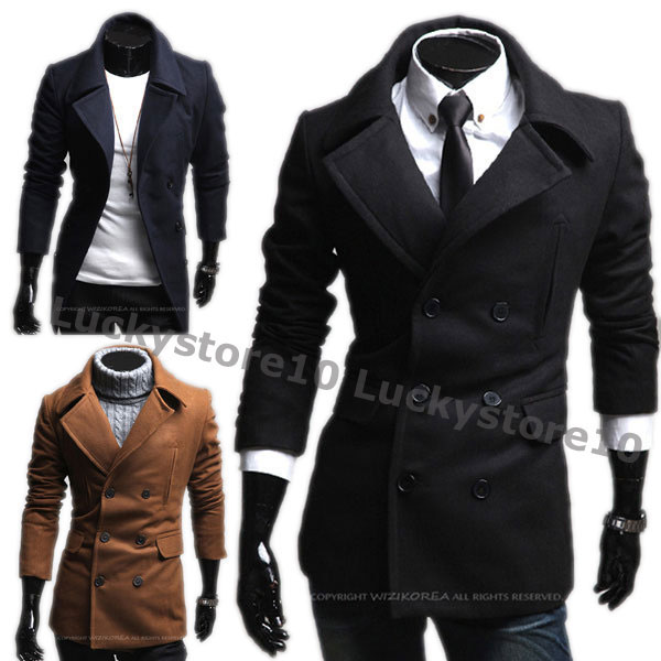Mens-Casual-Slim-Double-Pea-Long-Trench-Coat-Peacoat-Jacket-3-Colors-M1751