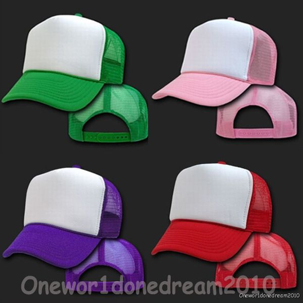 New-Classic-Unisex-Baseball-Trucker-Golf-Mesh-Cap-Hat-Purple-Pink-Red-Green-UK
