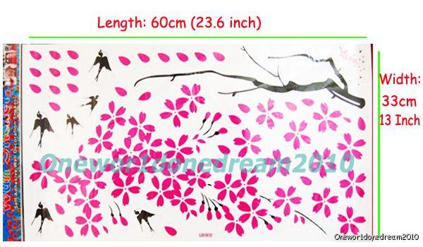 Flowers Mural Art Deco Wall Sticker Paper Decal LH18120 BIN