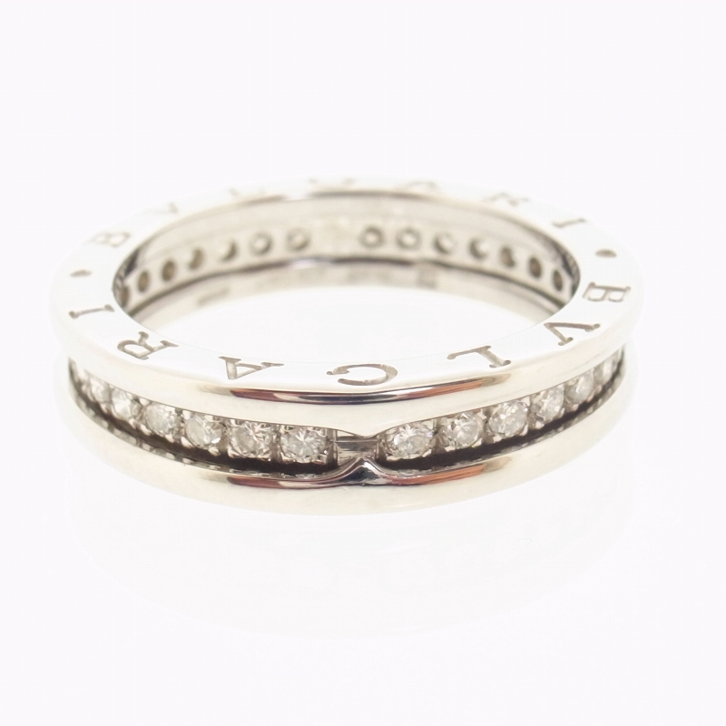 bvlgari 18k white gold b zero 1 pave diamonds ring with