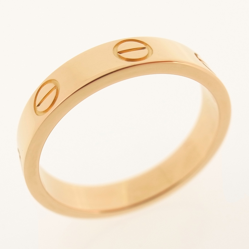 Details about CARTIER 18K ROSE GOLD LOVE WEDDING BAND RING WITH ...