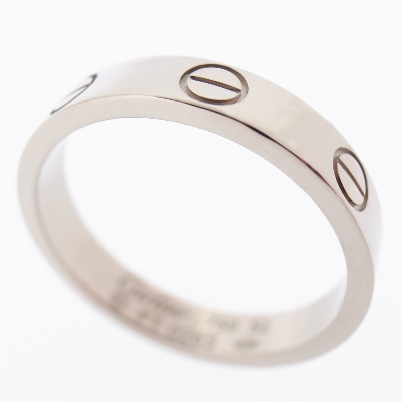 3 CARTIER 18K WHITE GOLD LOVE WEDDING BAND RING WITH CERTIFICATE Amp BOX 51