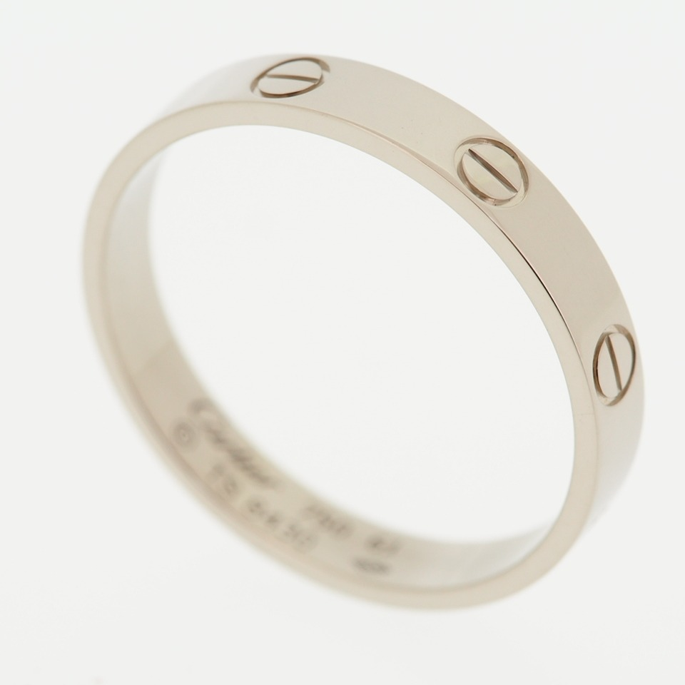 CARTIER 18K WHITE GOLD LOVE WEDDING BAND RING WITH CERTIFICATE Amp BOX MENS 61