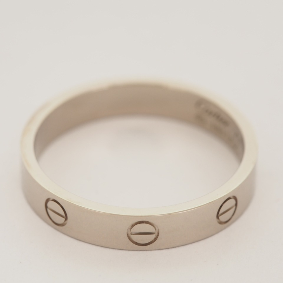 Details about CARTIER 18K WHITE GOLD LOVE WEDDING BAND RING WITH ...