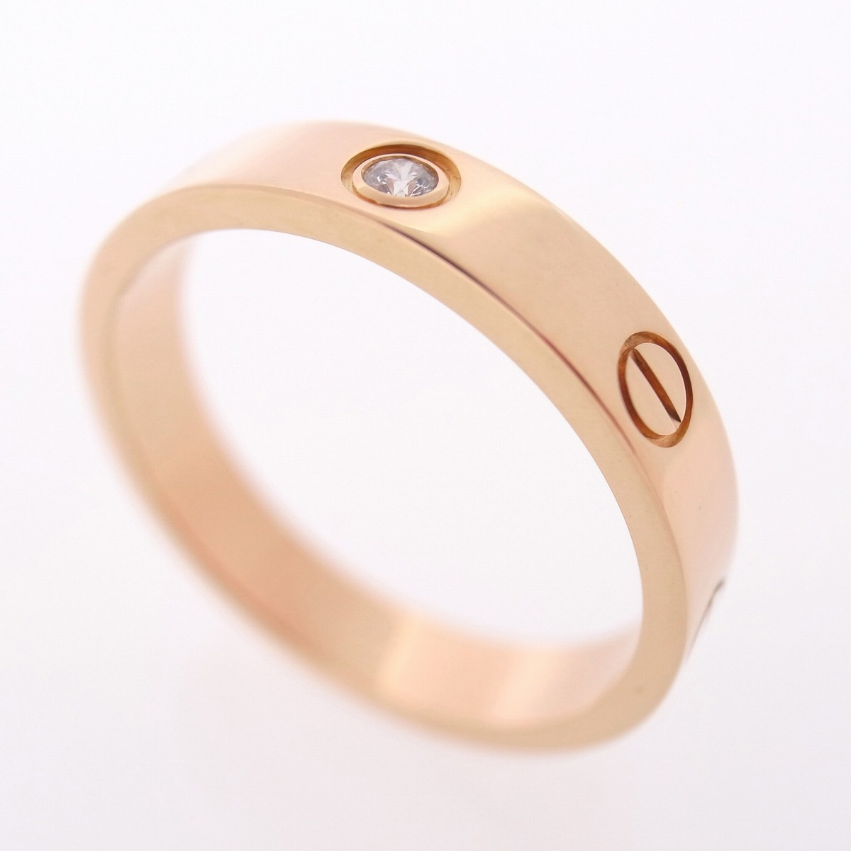 Details about CARTIER 18K ROSE GOLD LOVE WEDDING BAND RING WITH 1 ...