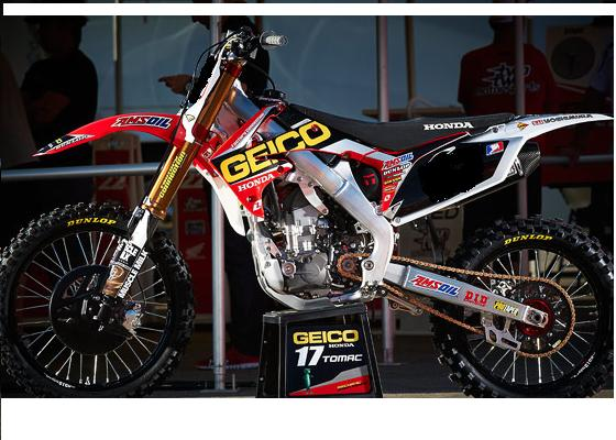 2012 one industries geico powersports race team graphics honda crf 250 r 2010 12 ebay. Black Bedroom Furniture Sets. Home Design Ideas
