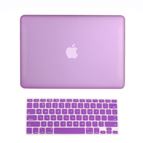 2-in1-Rubberized-PURPLE-Hard-Case-for-Macbook-White13-A1342-with-Keyboard-Cover