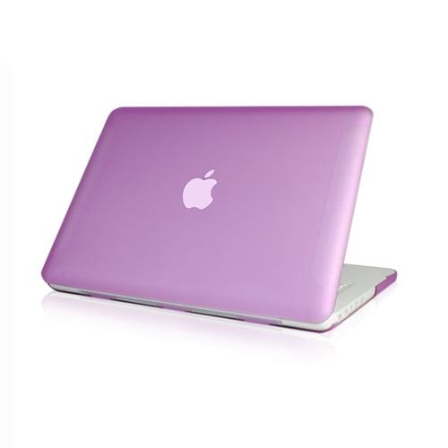 NEW-Rubberized-Purple-Hard-Case-Cover-for-Macbook-White-13-034-A1342