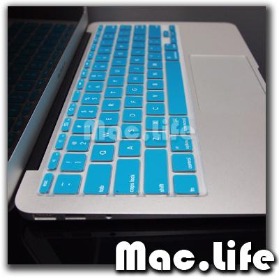 AQUA BLUE Soft Keyboard Cover Skin for Macbook Air 11