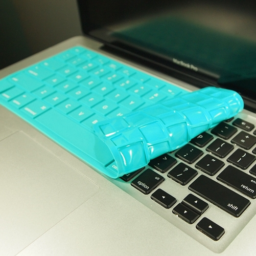 Solid-TEAL-Silicone-Keyboard-Cover-for-Macbook-Pro
