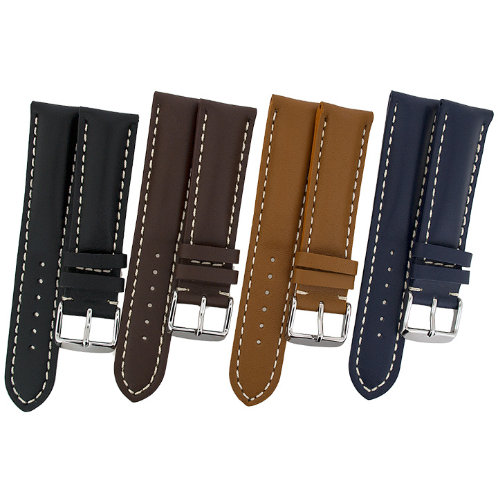 CALF-Leather-Tang-Watch-Strap-Buckle-for-Breitling-Watches