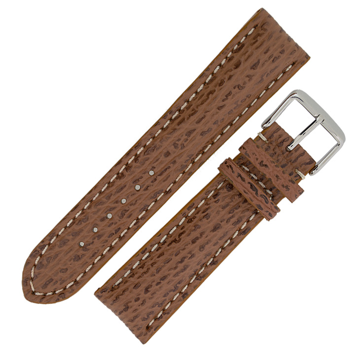 Replacement-Breitling-Style-Shark-Embossed-Calf-Leather-Watch-Strap-amp-Buckle
