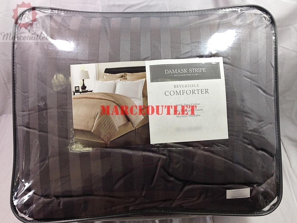 Charter Club Damask Stripe Full Queen Reversible