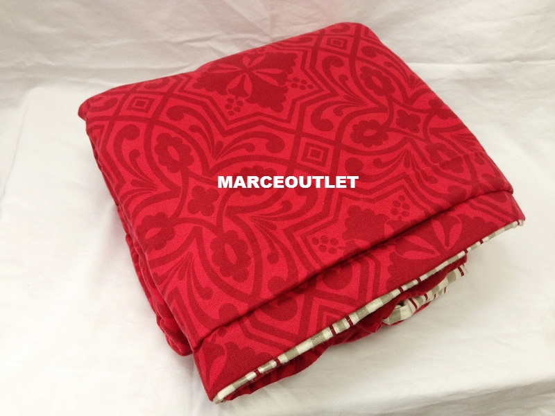 Martha Stewart Quot Gallery Tile Quot Flannel Twin Duvet Cover Red