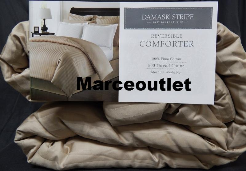 Charter Club Damask Stripe Reversible King Down
