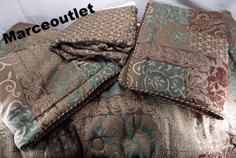 Croscill Bedding Galleria Brown 4 Piece King Comforter
