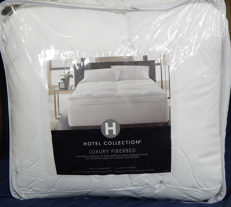 HOTEL COLLECTION Bedding QUEEN Luxury Fiberbed Mattress Pad