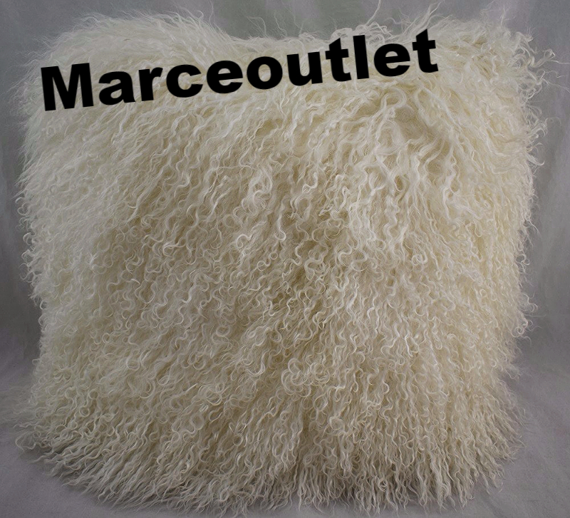 Jonathan Adler Mongolian Lamb Hair Decorative Pillow 18 Quot X