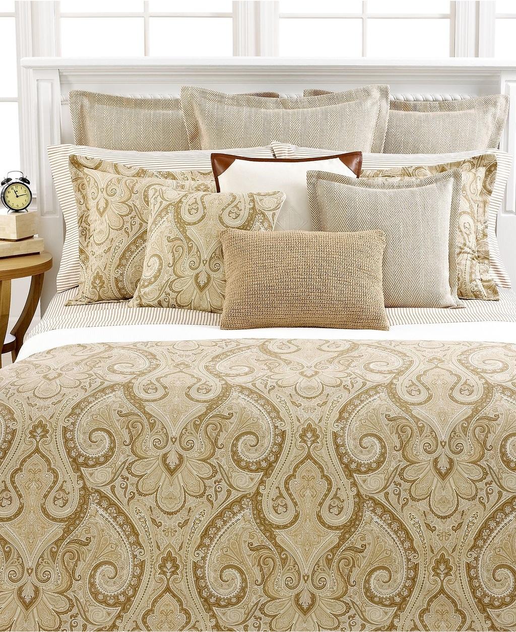 Ralph lauren desert spa queen comforter ebay for Ralph lauren bathroom
