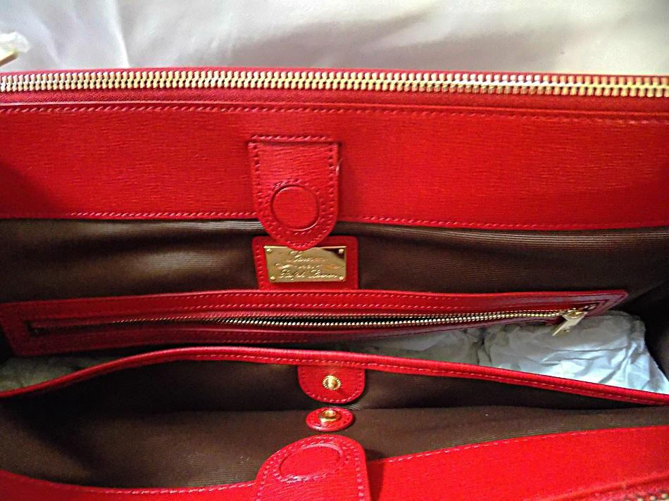 Lauren Ralph Lauren Newbury Double Zip Satchel Red 298 Ebay