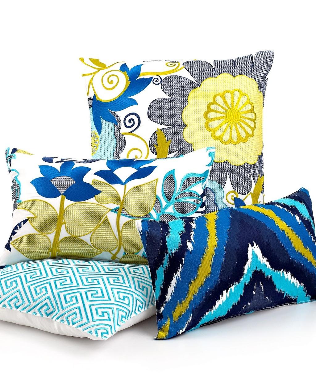 Trina Turk Bedding, Trellis Turquoise Geometric 18