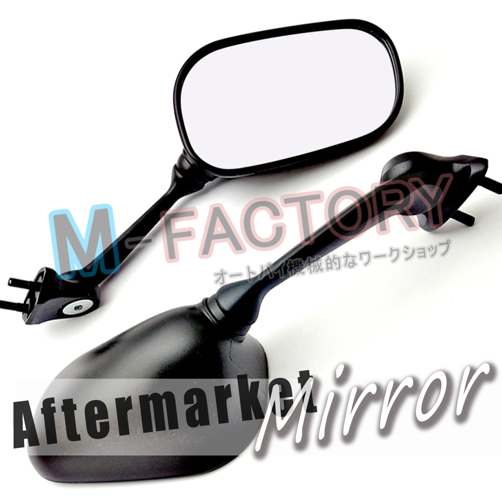 Black aftermarket side mirrors yamaha yzf r6 08 09 10 11 for Yamaha r6 aftermarket mirrors