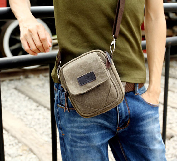 Men'S Small Canvas Shoulder Bags – Shoulder Travel Bag
