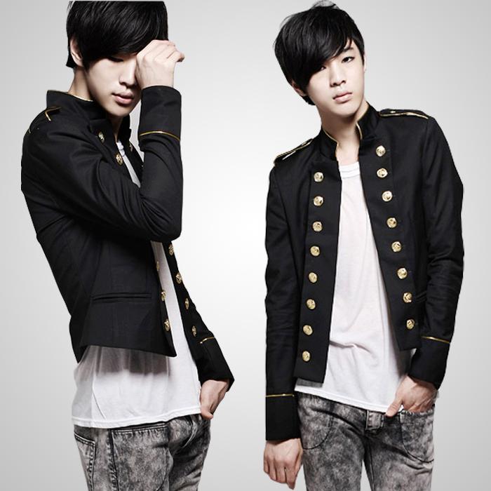 Men 39 S Stylish Korean Style Slim Fit Multi Button Deco Casual Blazer Jacket Coat Ebay