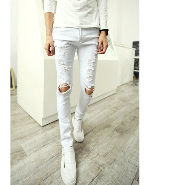 White ripped skinny jeans for sale – Global trend jeans models