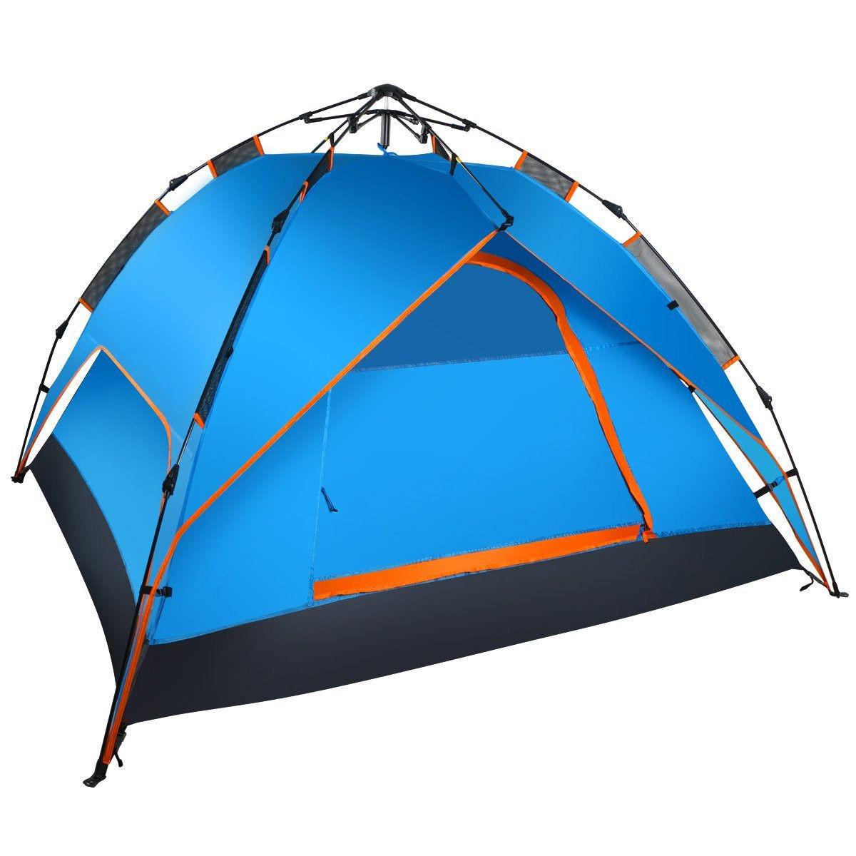 wolfwise campingzelt 3personen familienzelt sekundenzelt ultraleicht pop up zelt. Black Bedroom Furniture Sets. Home Design Ideas