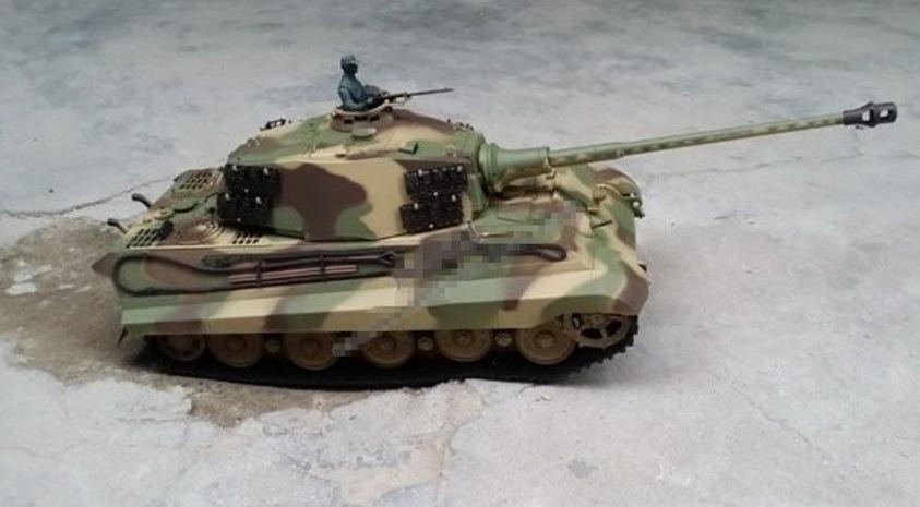 16 geman king tiger henschel turret rc airsoft battle tank w smoke