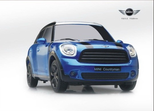 1 18 bmw mini cooper s countryman all4 radio remote control car rc rtr blue ebay. Black Bedroom Furniture Sets. Home Design Ideas